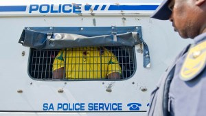 This guy was charged for looking fat in a Bafana shirt